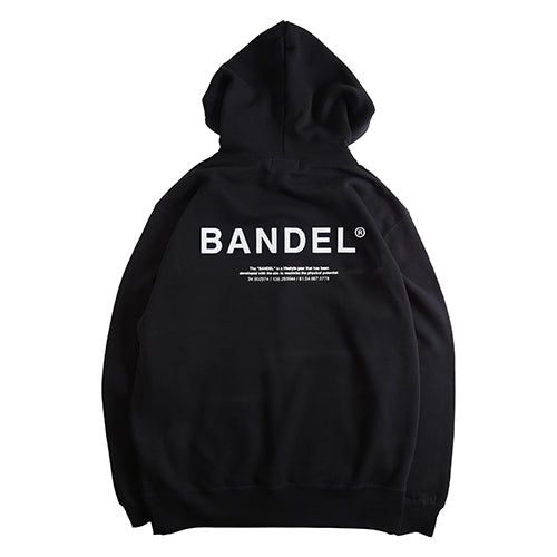 Bandel Collection Line Ghost XL-LOGO Hoodie Black/White