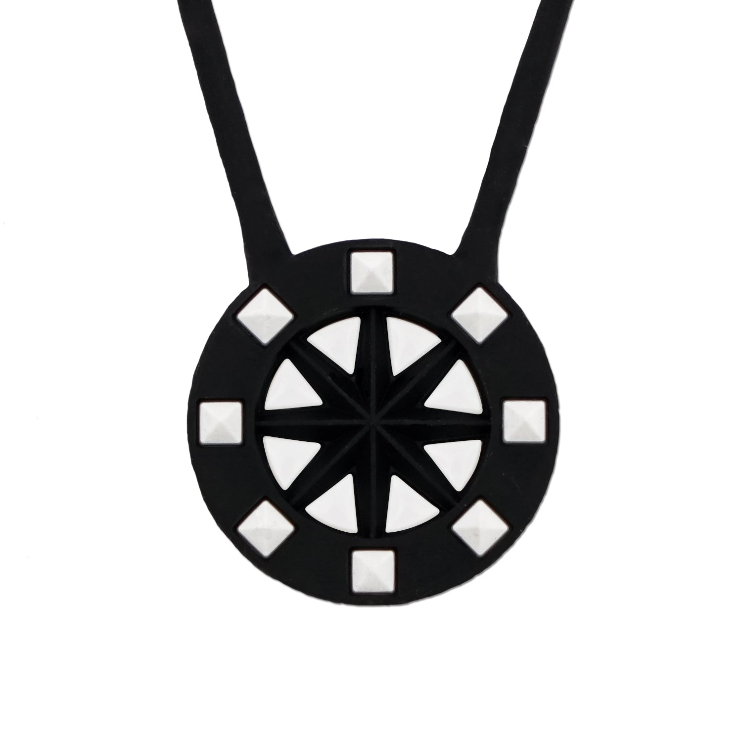 Bandel Studs Series Necklace Black/White