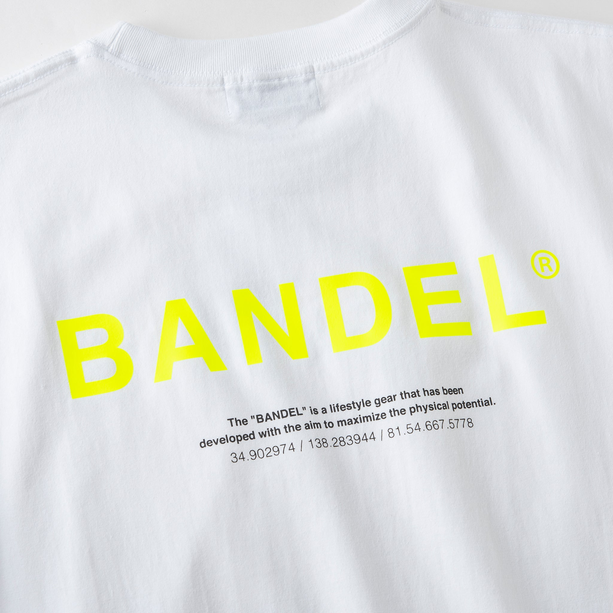 Bandel Collection Line Ghost XL-LOGO Tshirts White/Yellow