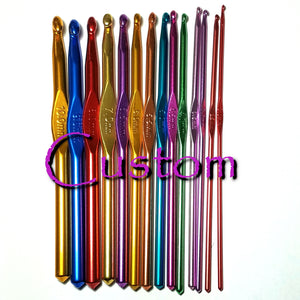 Custom Polymer Clay Crochet Hook, Craft Brand Hook, Many Sizes Available.