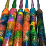 Full Set of 6 Galaxy Style Polymer Clay Crochet Hook, Susan Bates Hooks, Buy 5 get the 6th FREE! with FREE Shipping.