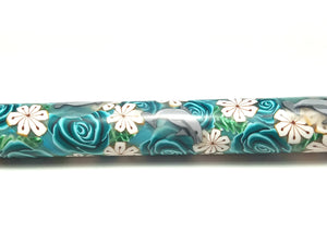 Blue/Teal Roses & Dolphins Crochet Hook 5.0 mm