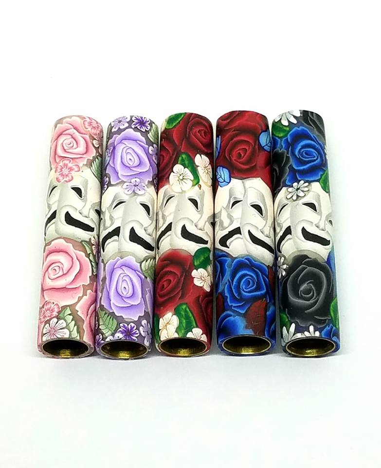 Roses & Drama Mask Blanks.  You Choose Your Blank Style & Rose Color