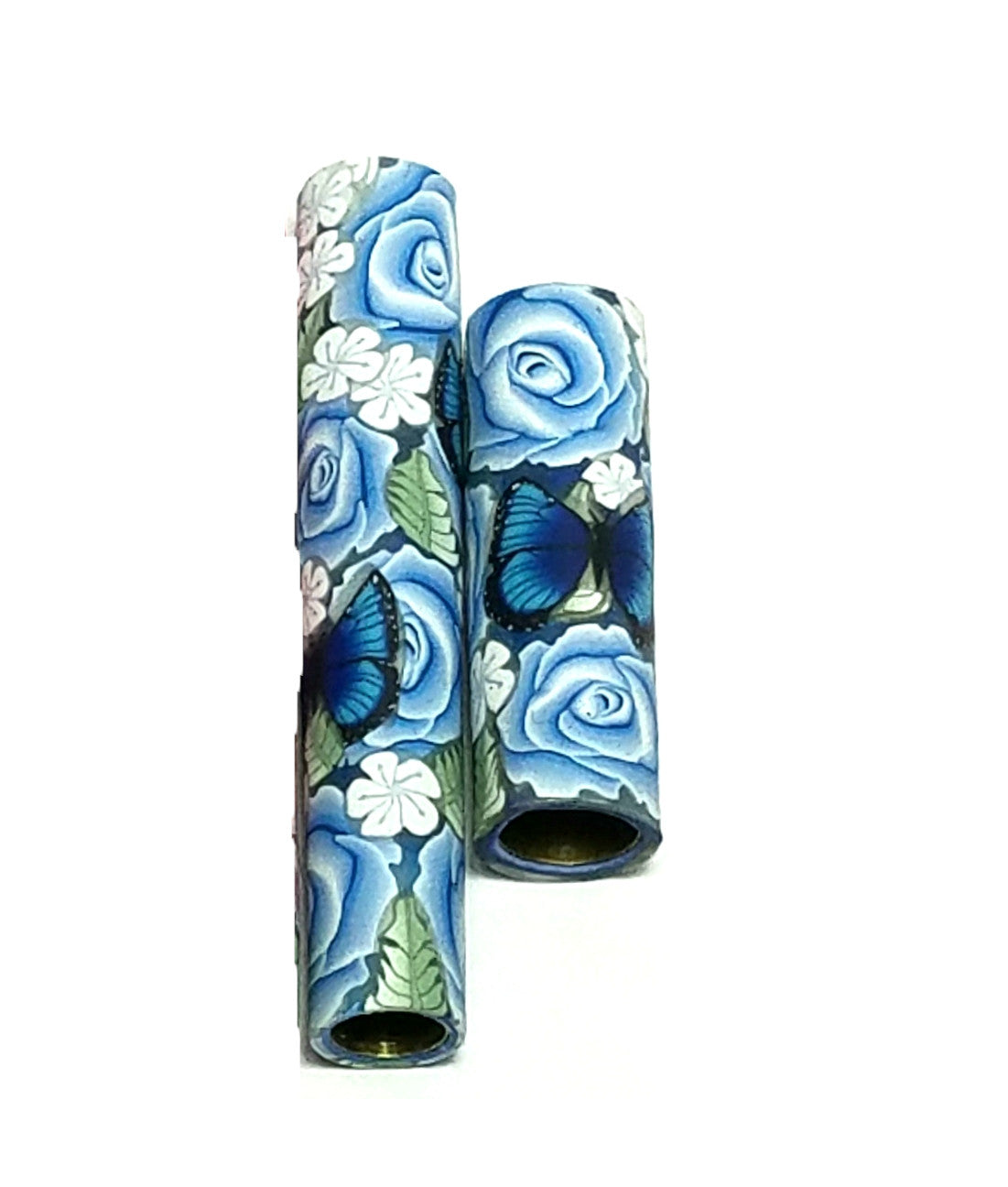 Roses & Blue Morpho Butterfly Blanks.  You Choose Your Blank Style & Rose Color