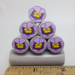 Purple Pansy Cane, Raw Clay Cane