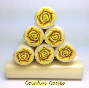Yellow Rose Cane, Raw Clay Canes