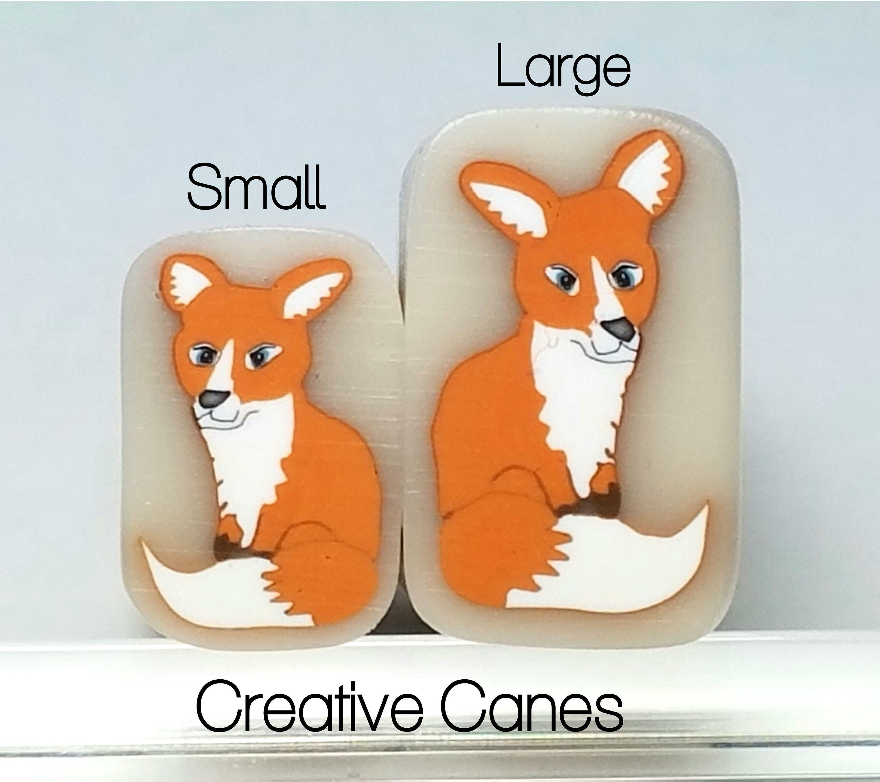 Fox Cane, Raw Clay Cane, Small size is sold out