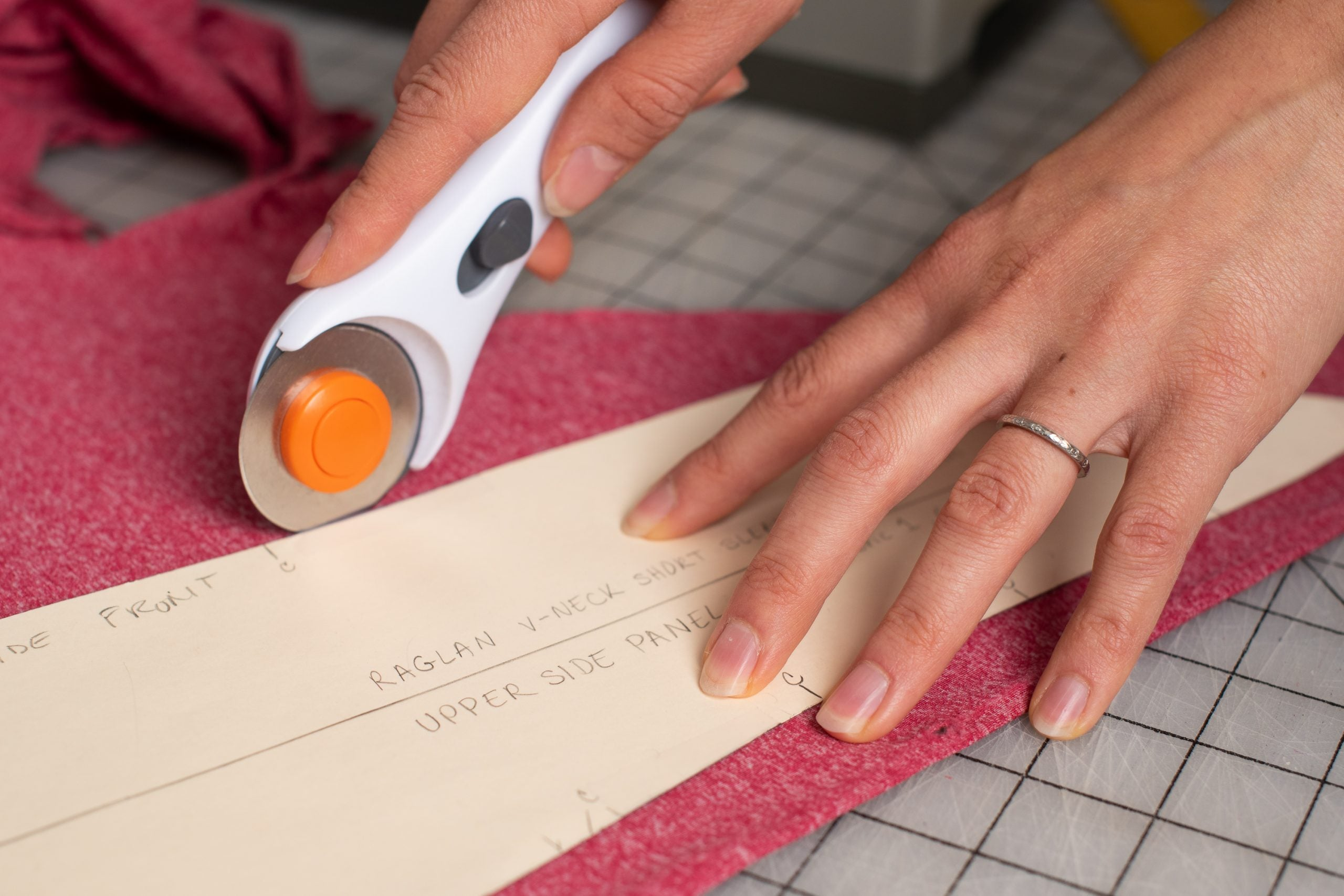 How We Source and Select Our Fabrics For Women's Mountain Bike Apparel - Fabric Cutting