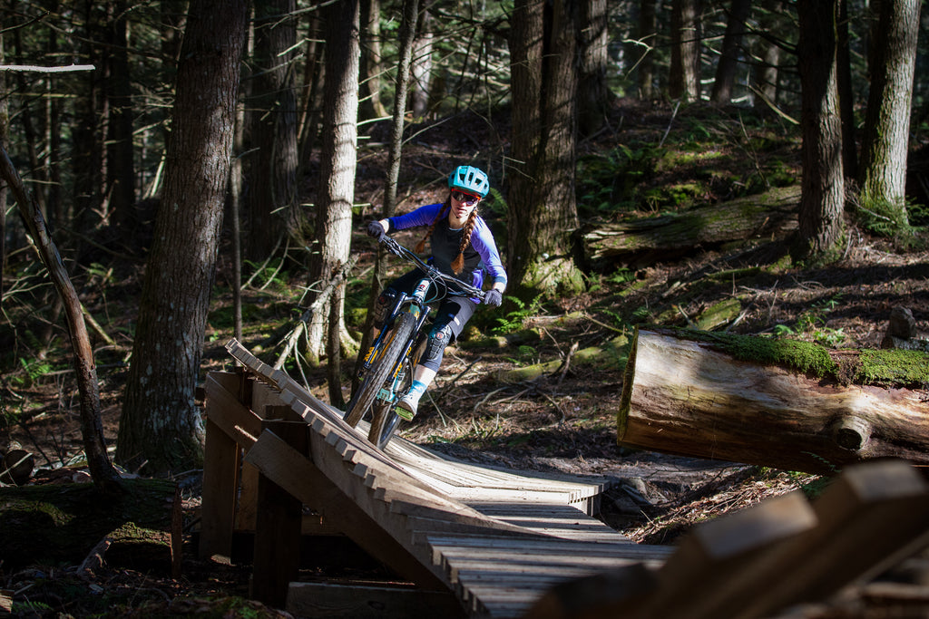 Mountain biker Kate Emmons - Photographed by Shelby Parenteau