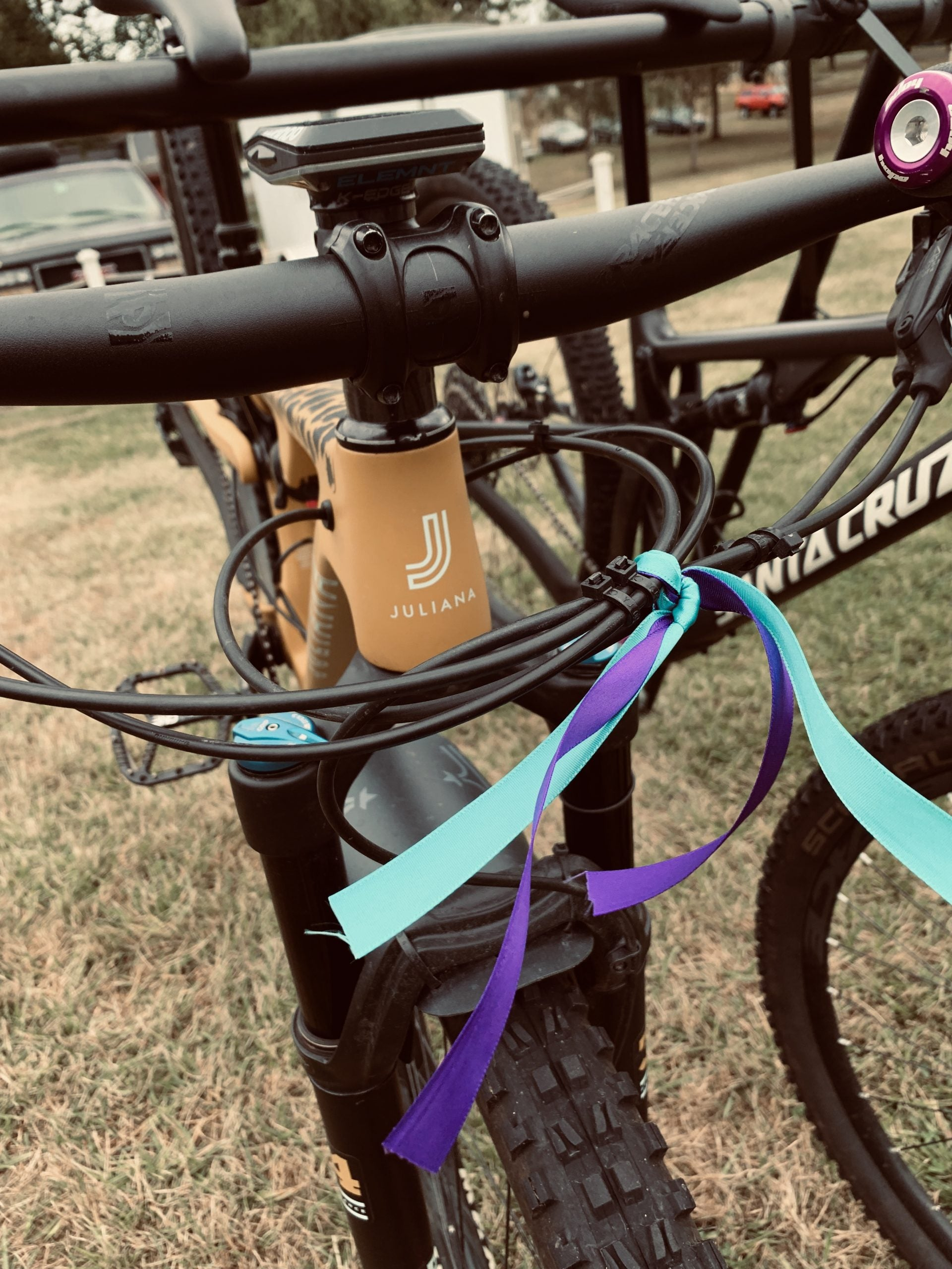 Riding For Something Greater Than Ourselves - Bike With Ribbons