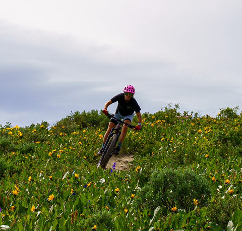 Transition From Competitive Running to Cycling: Rachel Long Interview - Flower Field Shot