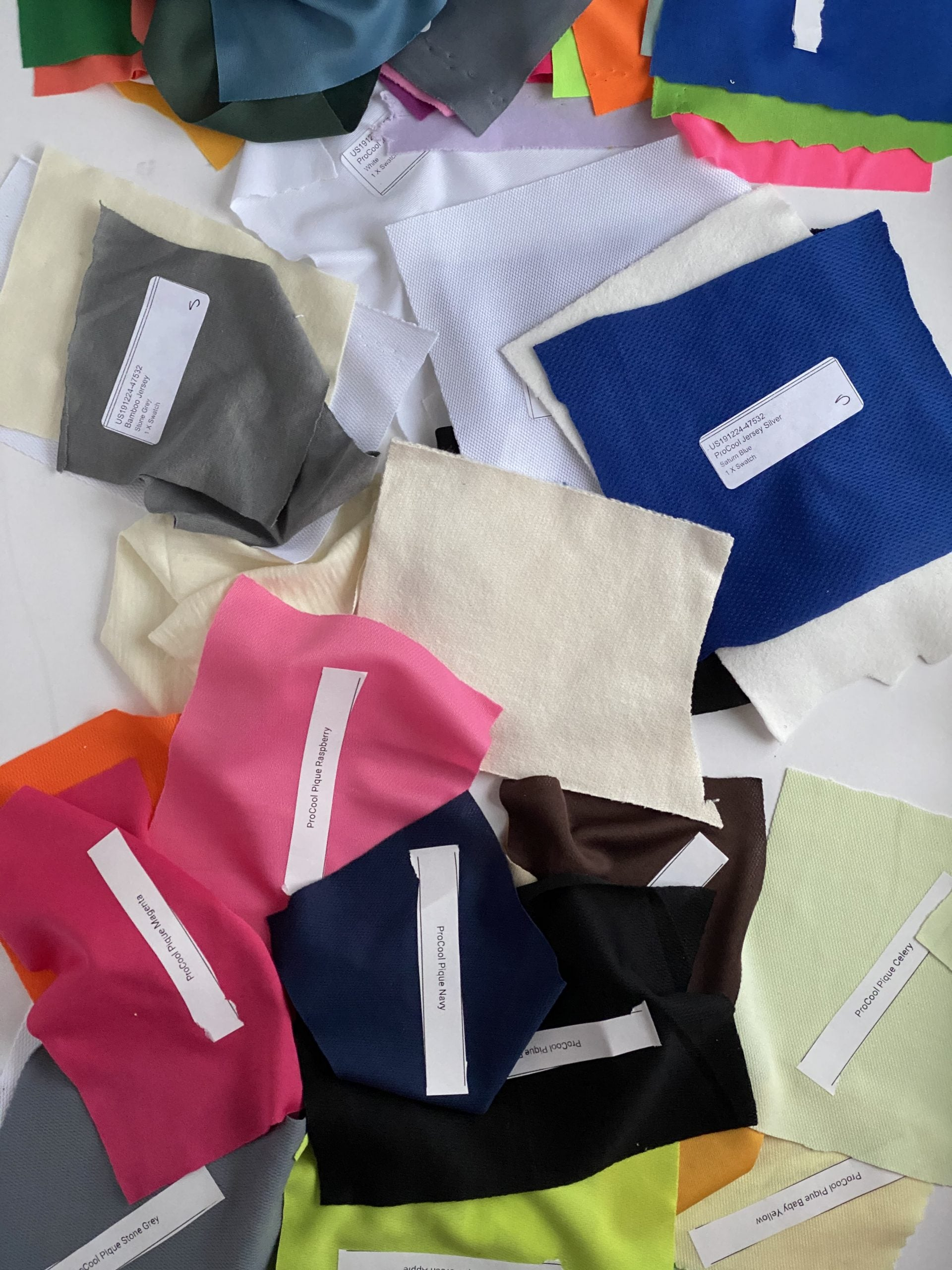 How We Source and Select Our Fabrics For Women's Mountain Bike Apparel - Fabric Swatches