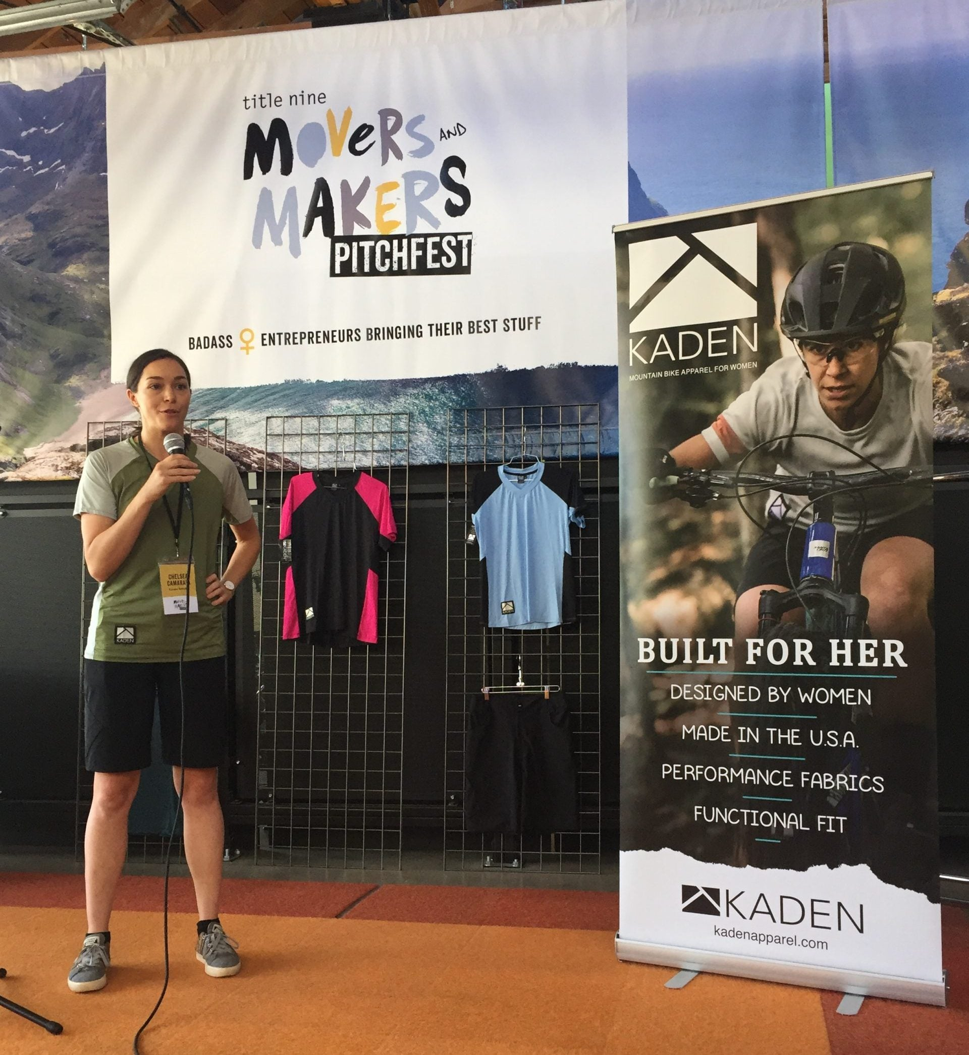 Kaden Selected as Title Nine 2019 Movers & Makers Pitchfest Finalist - Kaden Pitch Image