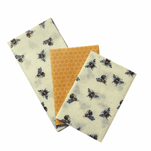 Load image into Gallery viewer, Beeswax Reusable Food Wraps -Triple Packs