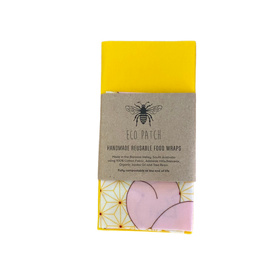 Beeswax Reusable Food Wraps -Twin Packs
