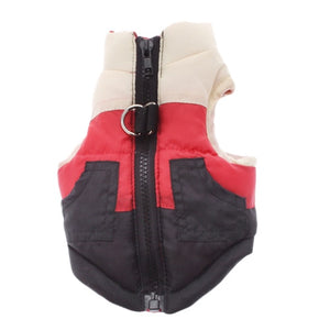 Winter Warm Cotton Padded Vest Jacket For Dogs