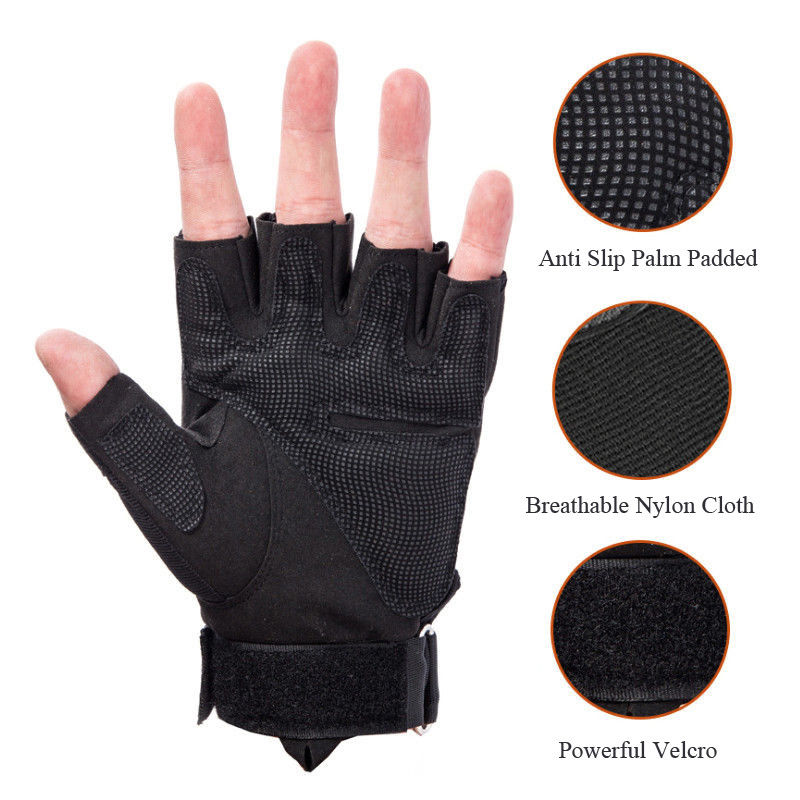 Men's Sport/Cycling/Tactical Hard Knuckle Half Finger Gloves