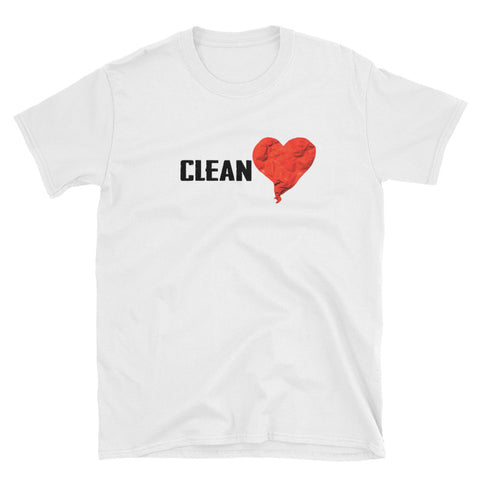 Clean Heart - Short-Sleeve Unisex T-Shirt - tingzapparel
