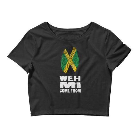 Weh Mi Come From - Women's Crop Tee - tingzapparel