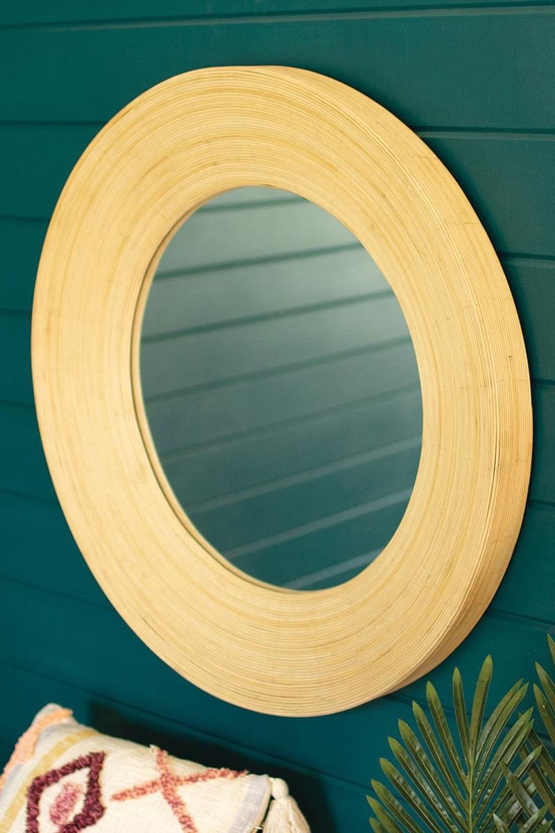 Coiled Bamboo Mirror