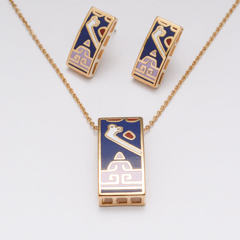 Gold Plated 18k Colourful Set For Everyday