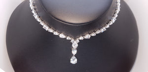 S925 Sterling Silver Queen Awesome Necklace (Rhodium Plated)