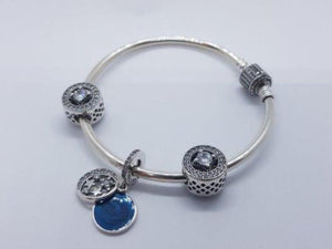 S925 Sterling Silver Pandora Style Bracelet With Charms 4