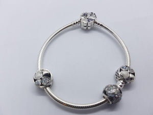 S925 Sterling Silver Pandora Style Bracelet With Charms 20