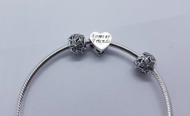 S925 Sterling Silver Pandora Style Bracelet With Charms 8