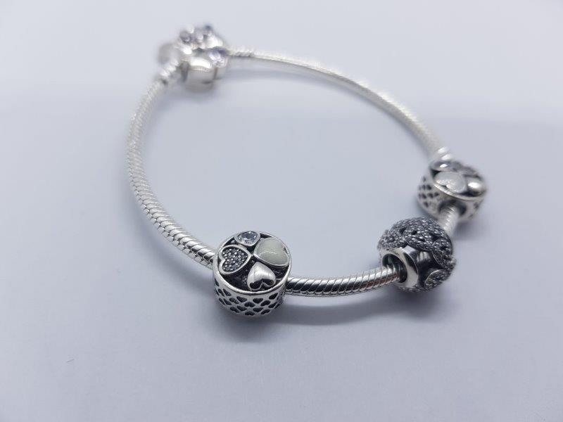 S925 Sterling Silver Pandora Style Bracelet With Charms 5