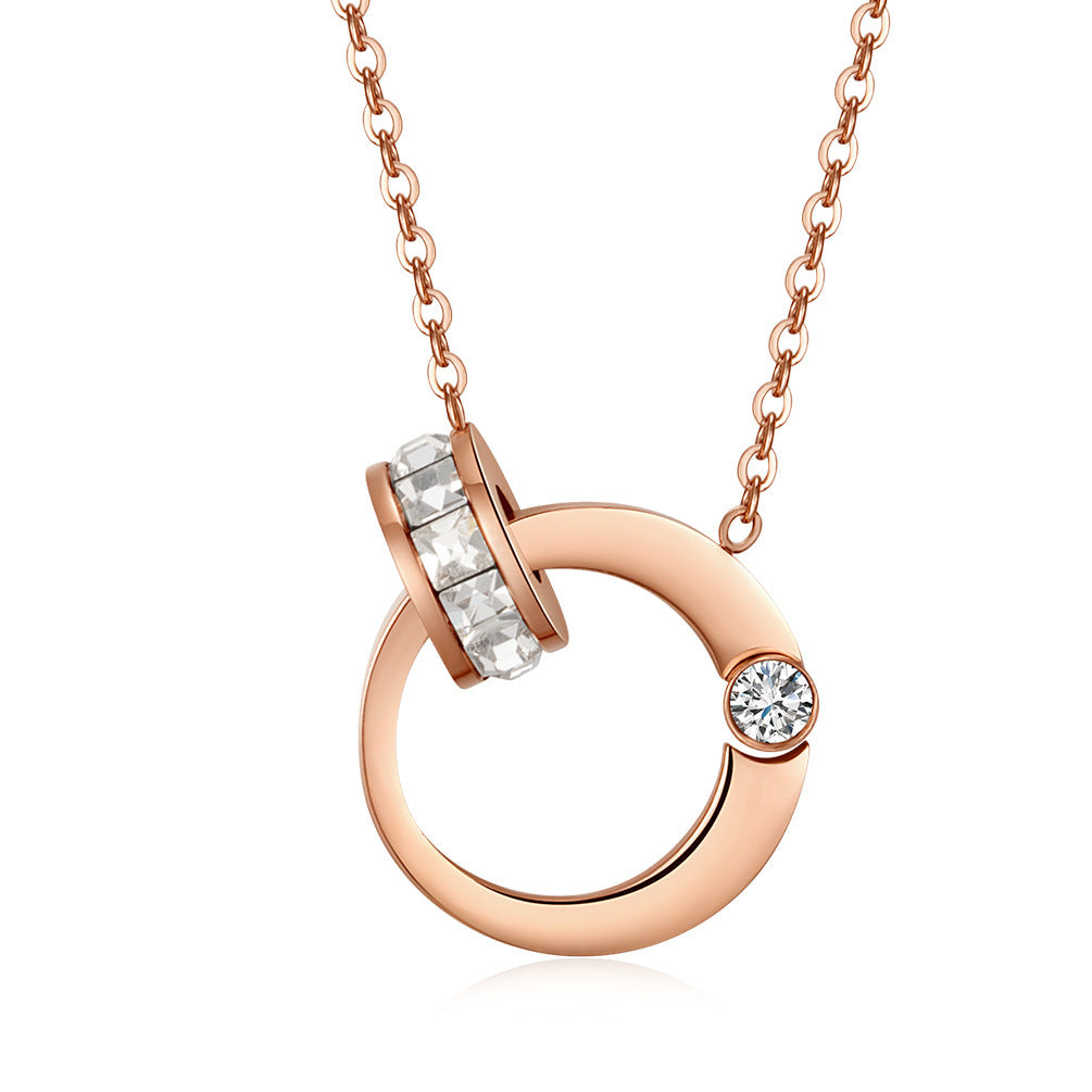 Hug Necklace (18K Rose Gold Plated)