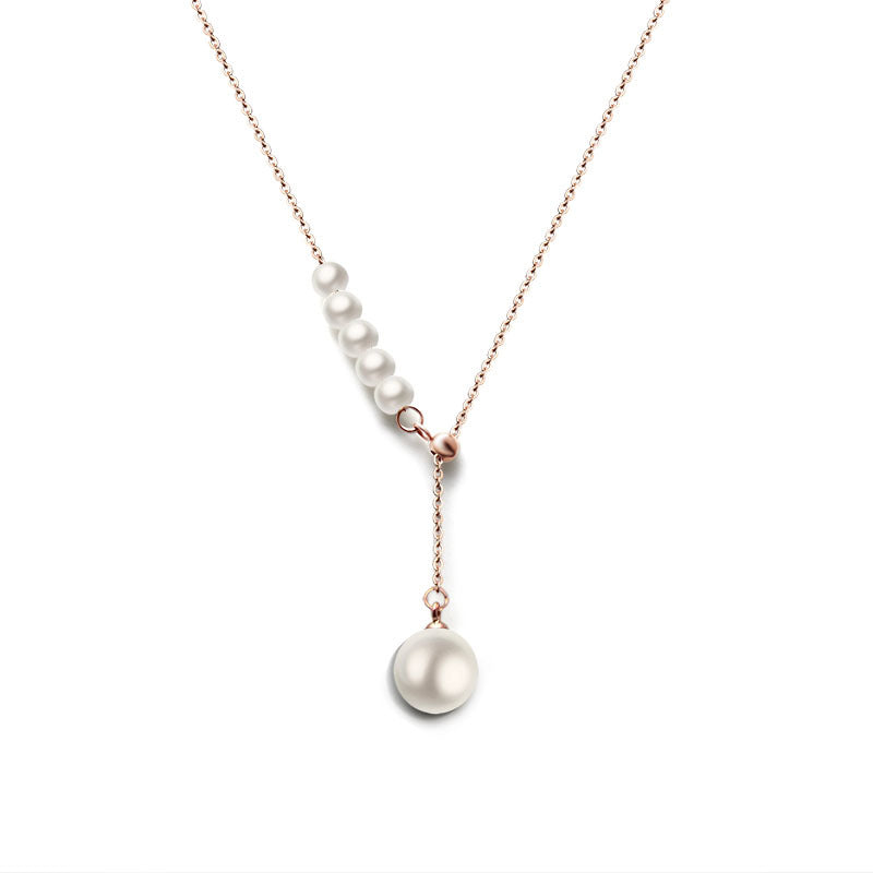 White Pearl Necklace (18K Gold Plated)