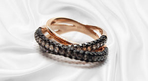 S925 Sterling Silver Moon Shadow Amazing Ring (18K Rose Gold Plated )
