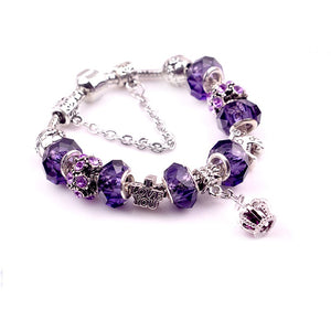 Oklahoma Purple and Silver Bracelet