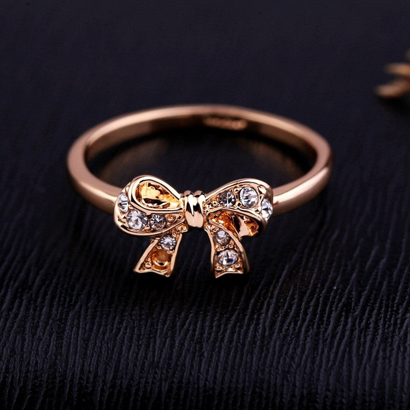 18K Rose Gold Plated Butterfly Ring