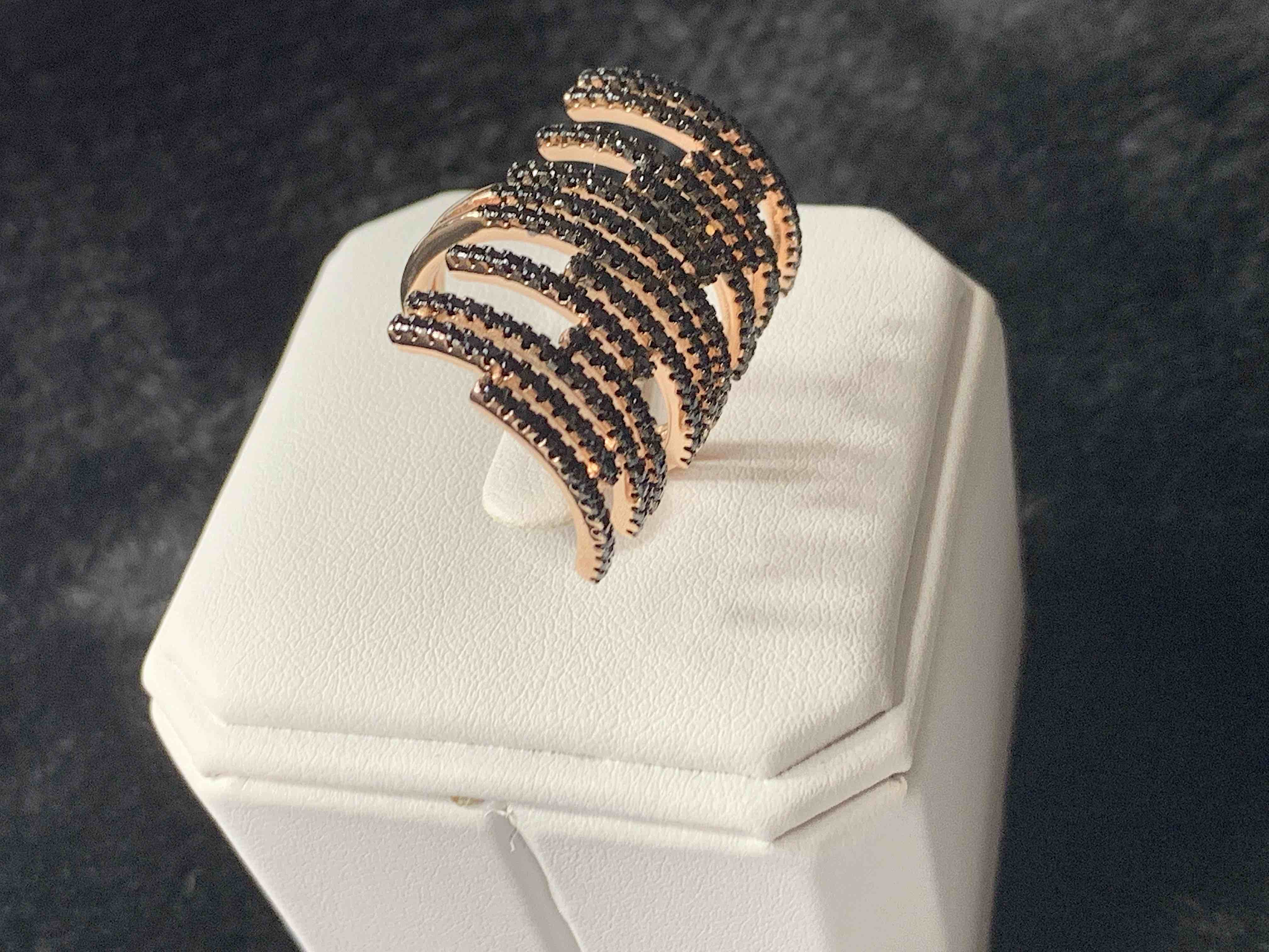 S925 Sterling Silver Exotic Ring With Stones (18K Gold/Rose Gold Plated)