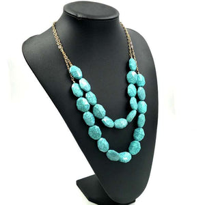Awesome Necklace with Turquoise Stones