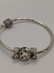 S925 Sterling Silver Pandora Style Bracelet With Charms 3
