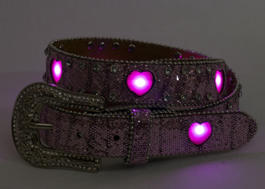 Brigalow | Kids | Belt | Flashing Heart Lights | Pink