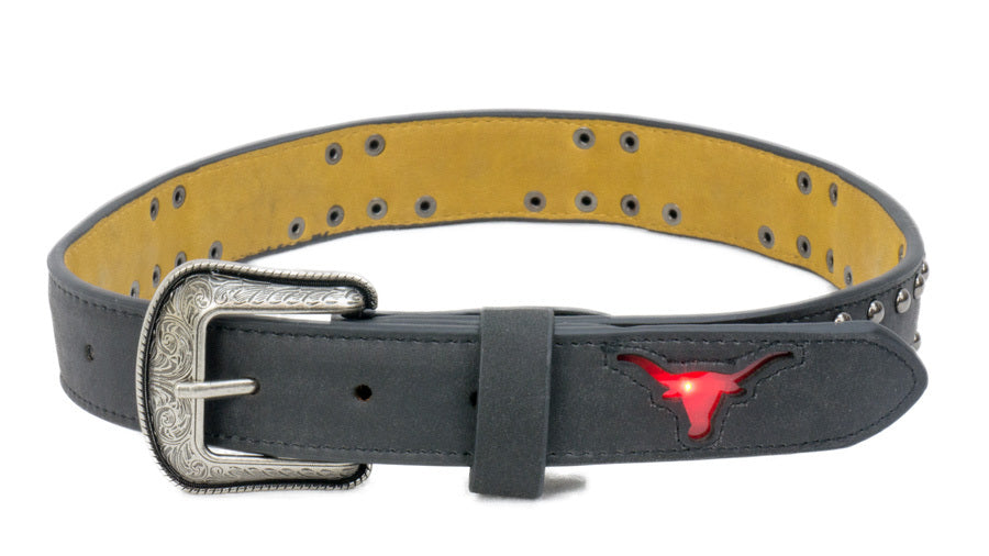 Brigalow | Kids | Belt | Flashing Red Bull | Black
