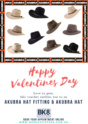 BK8 Outfitters | HW | Gift Card | Akubra | Valentine - BK8 Outfitters Australia