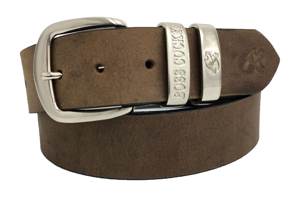 Boss Cocky | Mens | Belt | Muster | 40mm Dbl Loop | Dark Brown