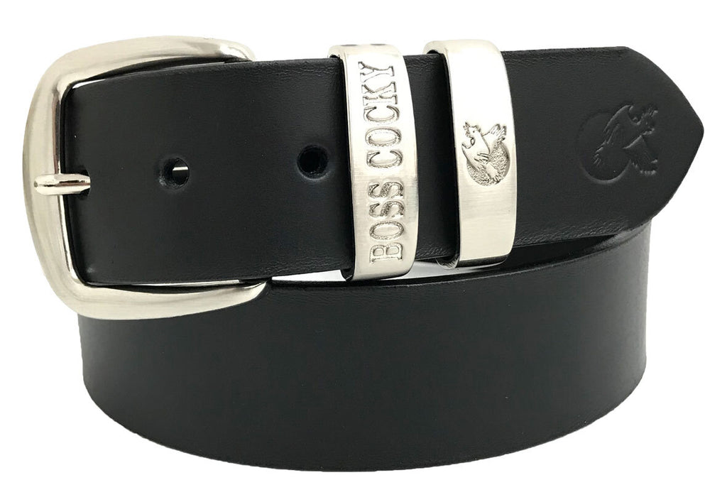 Boss Cocky | Mens | Belt | Muster | 40mm Dbl Loop | Black