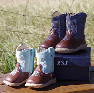 Baxters | Kids | Boots | Toe Round | Aqua | Infant - BK8 Outfitters Australia