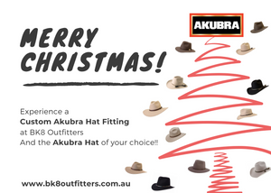 BK8 Outfitters | HW | Gift Card | Akubra | Christmas - BK8 Outfitters Australia