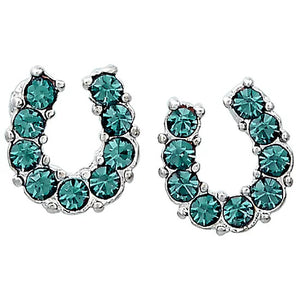 Jewellery | Earrings | Horseshoe | Aqua
