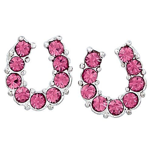 Brigalow | Jewellery | Earrings | Horseshoe | Pink