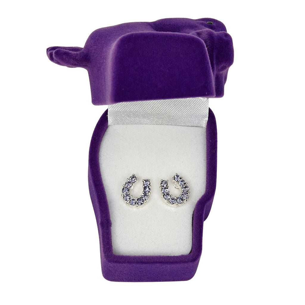 Brigalow | Jewellery | Earrings | Horseshoe | Purple