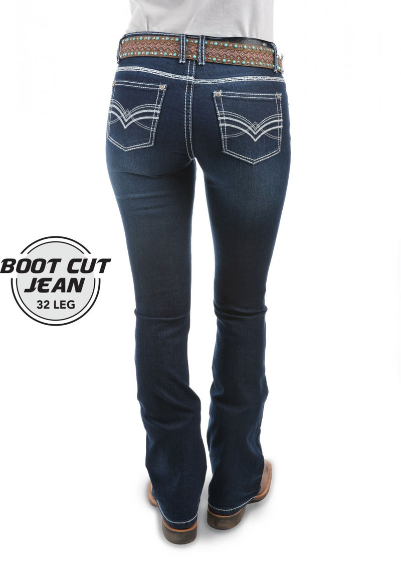 Pure Western | Womens | Jeans | Low Waist | Bootcut | 32