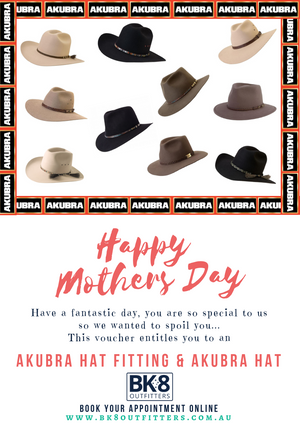 BK8 Outfitters | HW | Gift Card | Akubra | Mothers Day - BK8 Outfitters Australia